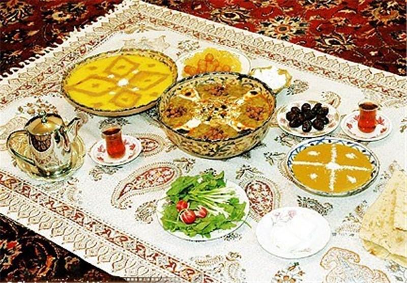 سفره افطار در اصفهان