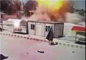 فیلم/لحظه انفجار خودروی بمبگذاری شده در کوبانی