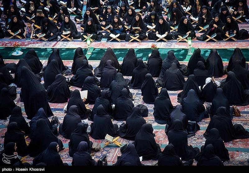 جزء خوانی قرآن کریم در حرم شاه چراغ - شیراز
