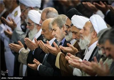 محمدباقر نوبخت معاون برنامهریزی و نظارت راهبردی رئیس جمهور و سخنگوی دولت در نماز جمعه تهران