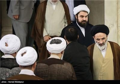 حجتالاسلام سیدرضا تقوی رئیس شورای سیاستگذاری ائمه جمعه کشور در نماز جمعه تهران