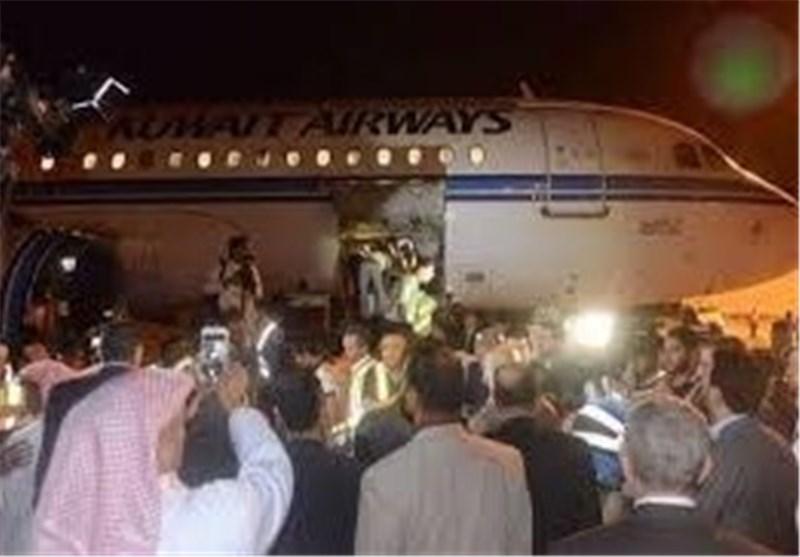 وصول جثامین الشهداء الکویتیین الى النجف الاشرف لمواراتهم الثرى فی مقبرة وادی السلام+ صور