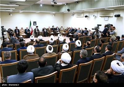 دیدار رئیس و مسئولان قوه قضائیه با مقام معظم رهبری