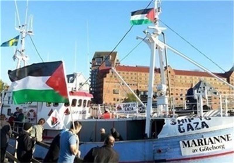 کیان الارهاب الصهیونی یهاجم «أسطول الحریة» القادم إلى غزة لکسر الحصار ویحتجز إحدى سفنه