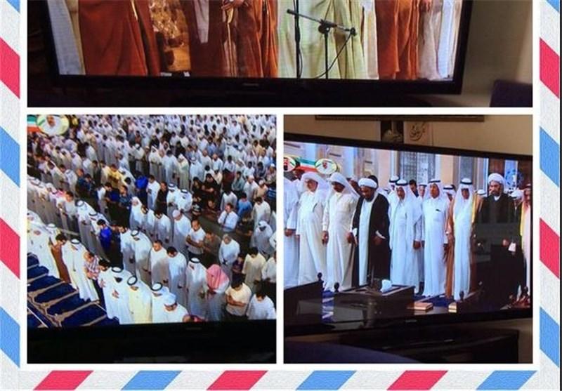 من اجل تاکید الوحدة والتلاحم بینهما ..صلاة جمعة شیعیة - سنیة موحدة فی الکویت +صور