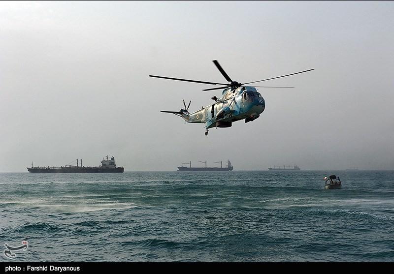 گلباران محل سقوط هواپیمایی ایران در خلیج فارس - بندرعباس