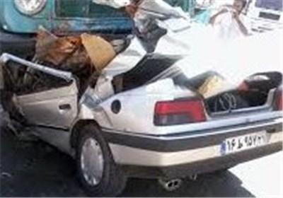 تصادف کامیون پژو