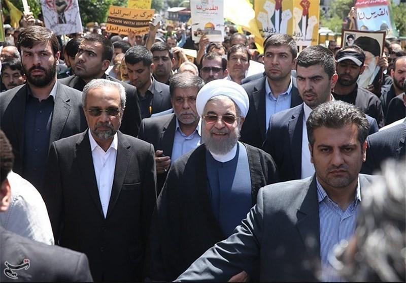 الرئیس روحانی والشیخ رفسنجانی یلتحقان بصفوف المتظاهرین فی طهران