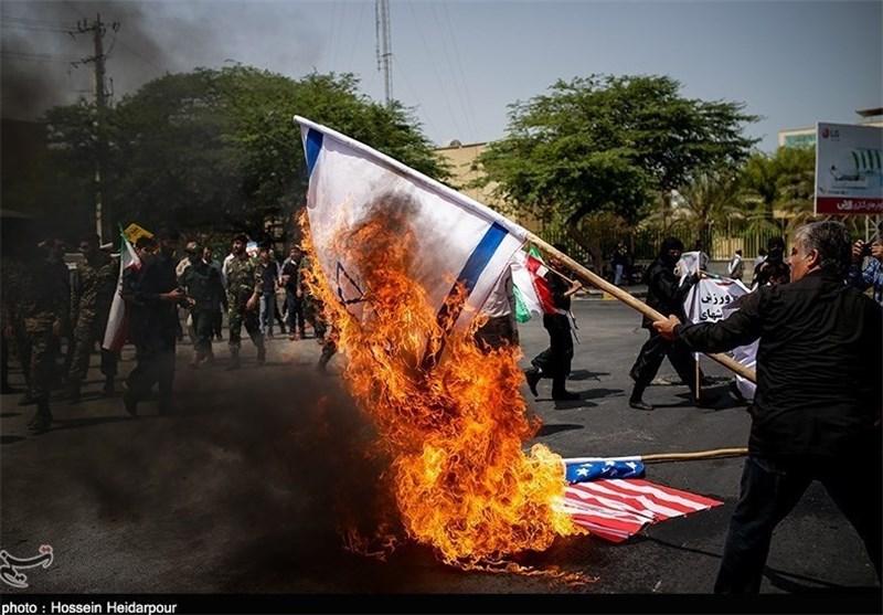 مسجد الاقصیٰ پر صہیونیوں کے غاصبانہ قبضے کیخلاف تہران میں مظاہرہ
