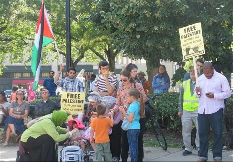 Rally Held in US Capital to Mark Int'l Quds Day (+Photos)