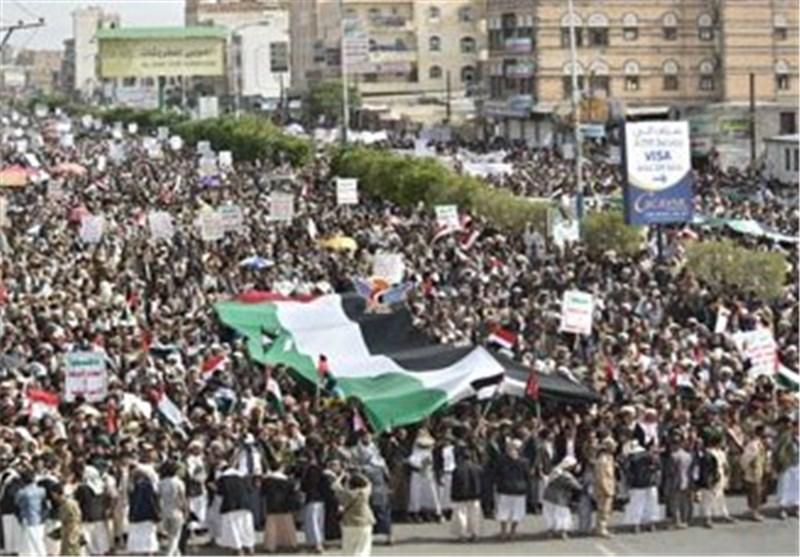 مسیرة ملیونیة حاشدة بصنعاء احتفاء بیوم القدس العالمی + صور