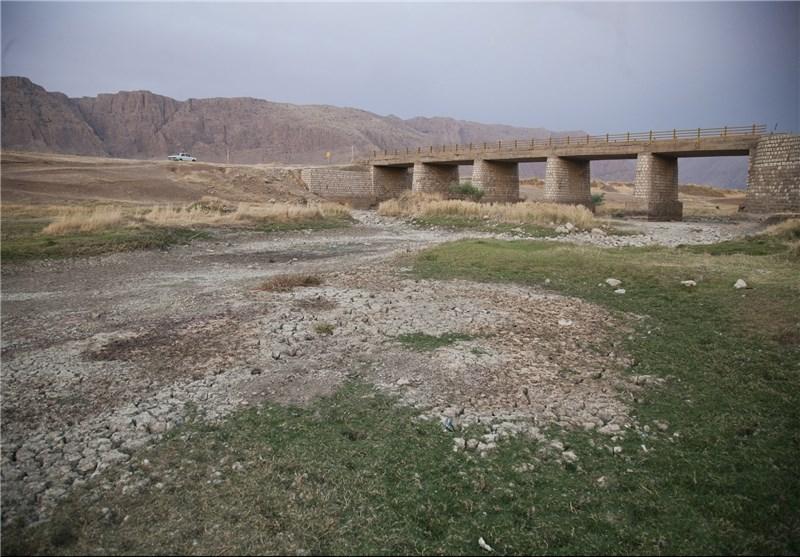 رودخانه «رازآور» در استان کرمانشاه خشک شد+تصاویر