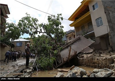 Flash Flood Hits Sijan Village in Iran's Northern Alborz Province