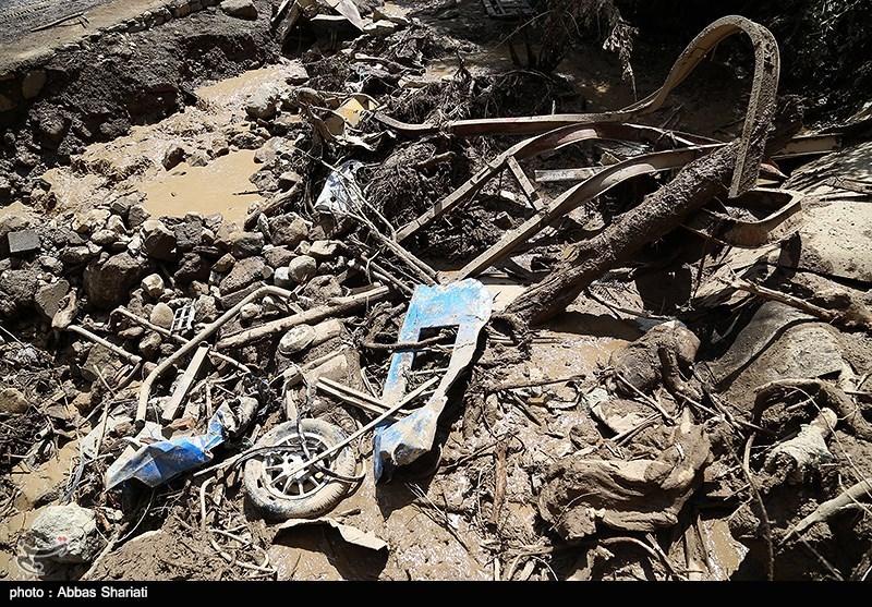 خسارات ناشی از سیلاب روستای سیجان - چالوس