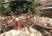 تصاویر جدید از رانش زمین و ریزش ساختمانهای مسکونی به دنبال وقوع سیل