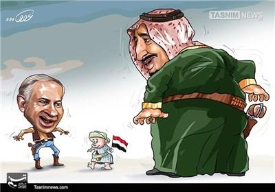 کاریکاتور/ رژیمهایکودککش، آلسعود و آل یهود