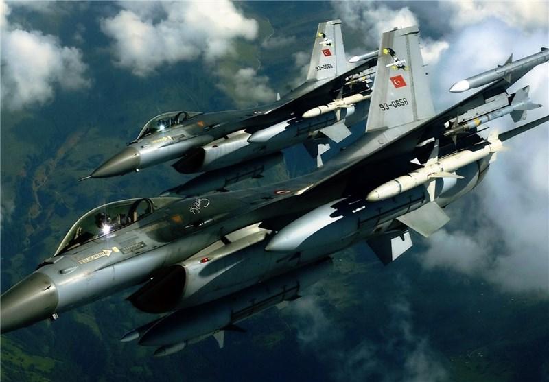 ترک جنگی طیاروں کی شام کے شمال میں بمباری