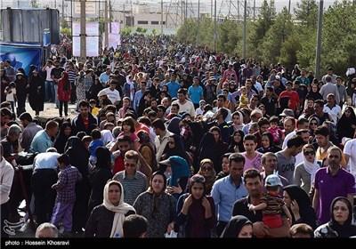 Mass of People Go Hiking in Iran's Shiraz