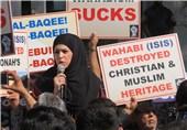 تظاهرات اعتراضی هزاران مسلمان مقابل سفارت عربستان در واشنگتن + فیلم و عکس