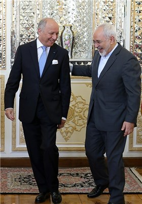 Iran's Zarif Meets French FM Fabius in Tehran