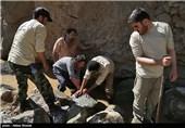 اردوی جهادی بسیج سازندگی جهت بازسازی روستای سیجان - البرز