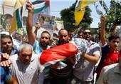 تشییع پیکر کودک فلسطینی در میان فریادهای خشم فلسطینیان