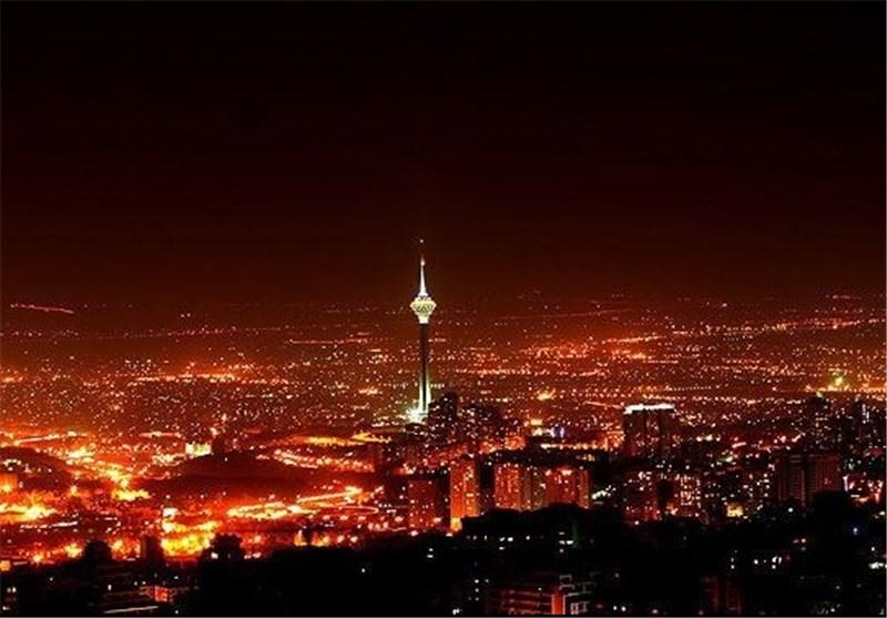 مصرف برق - تهران در شب