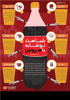 اینفوگرافیک/ شباهت نوشابه با هروئین!!!