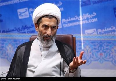 حجة الاسلام هادی صادقی، مساعد رئیس السلطة القضائیة خلال زیارته وکالة تسنیم الدولیة للأنباء