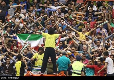 دیدار تیم های ملی والیبال ایران و ژاپن