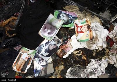 کشته شدن کودک فلسطینی و پدرش در آتش سوزی عمدی