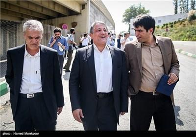 محسن هاشمی رفسنجانی پس از بدرقه برادرش مهدی به زندان اوین