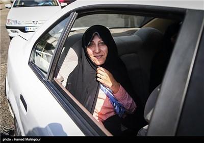 فاطمه هاشمی رفسنجانی پس از بدرقه برادرش مهدی به زندان اوین