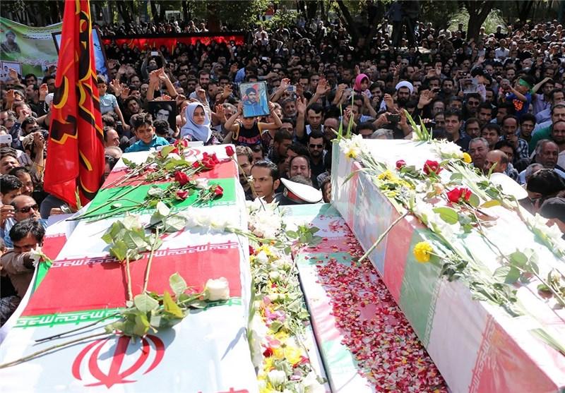 تشییع شهدای غواص در اصفهان