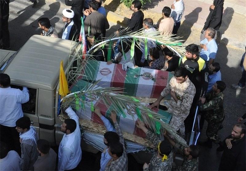 تشییع 8 غواص شهید در اهواز