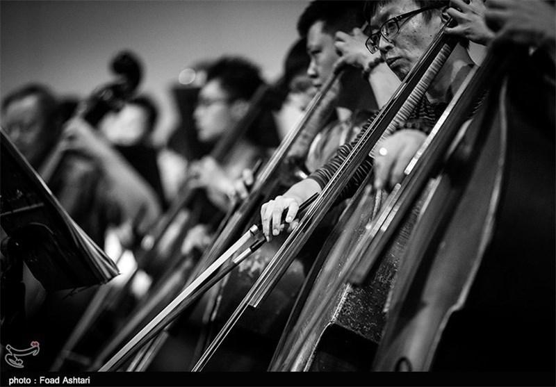 تمرین ارکستر سمفونیک تهران و ارکستر فیلارمونیک چین کنترباس موسیقی تزئینی