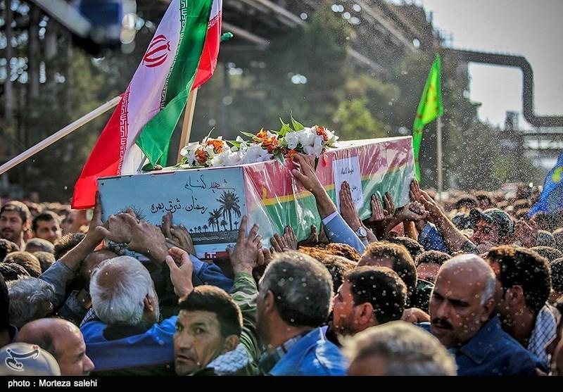 مراسم تشییع شهدای گمنام در ذوب اهن - اصفهان