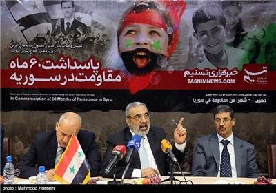 وکالة تسنیم تستضیف وزیر الاعلام السوری (1)