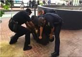 حمله پلیس آمریکای به یک معلول سیاه پوست