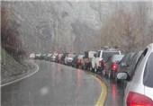 جاده چالوس باران