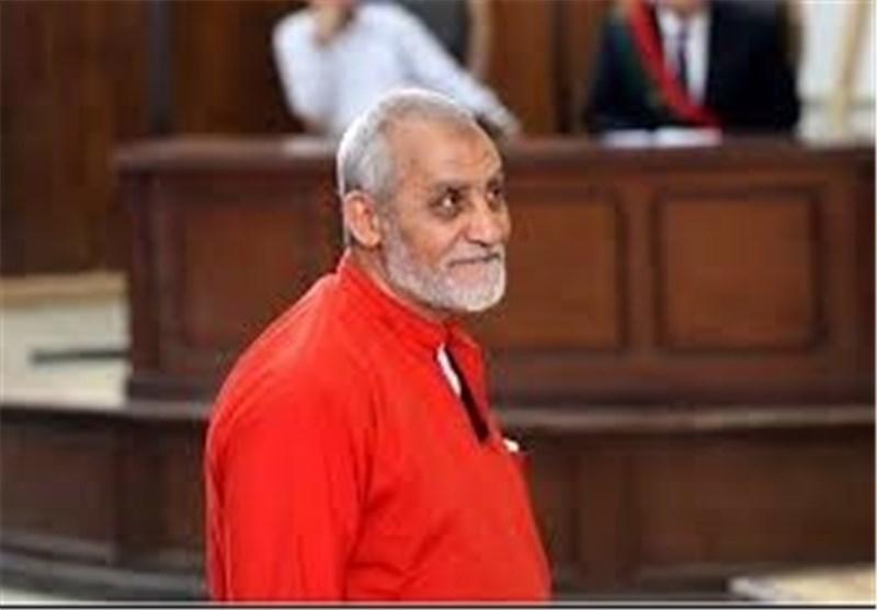 المؤبد لمحمد بدیع مرشد الإخوان المسلمین فی مصر