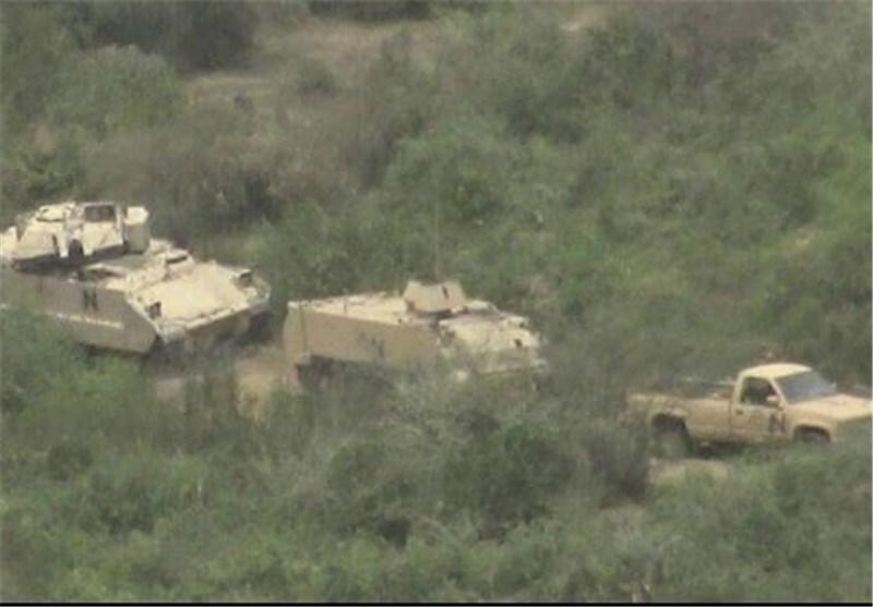انهدام خودروی نظامی عربستان در خوبه جازان