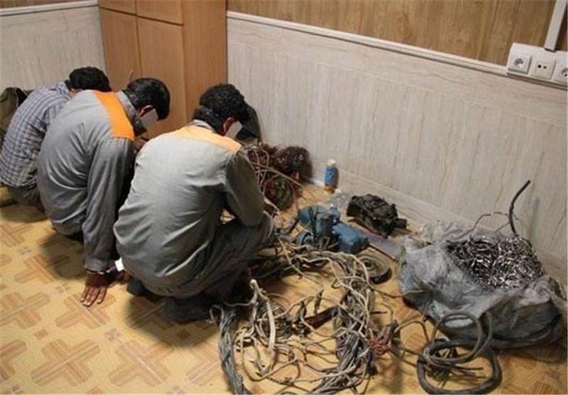 سارقان در خاموشی به سراغ کابلهای برق استان البرز میروند