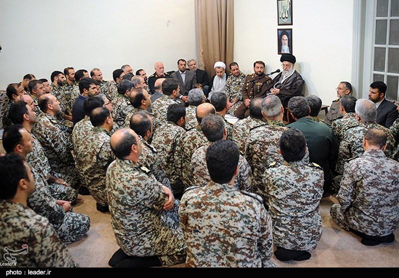 دیدار فرماندهان و مسئولان قرارگاه پدافند هوایی خاتمالانبیا (ص) ارتش جمهوری اسلامی