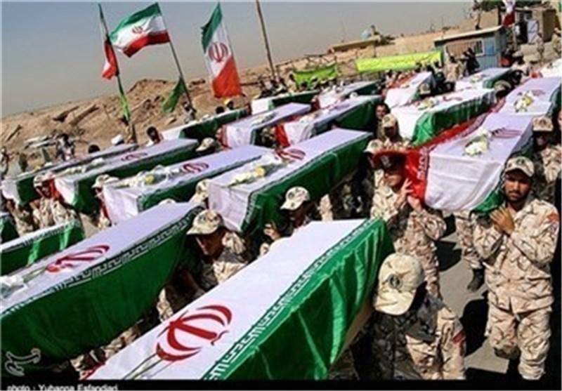 دخول رفات 80 من شهداء مرحلة الدفاع المقدس الی ایران الاسلامیة من منطقة شلمجة الحدودیة