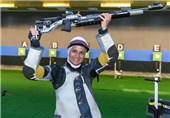 جایگاه نخست الهه احمدی در تفنگ بادی /رده چهل و یکم تفنگ 10 متر بهترین جایگاه مردان