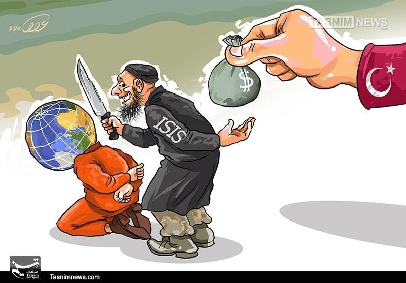 کاریکاتور/ ترکیه و کالاهای مورد نیاز داعش!!!