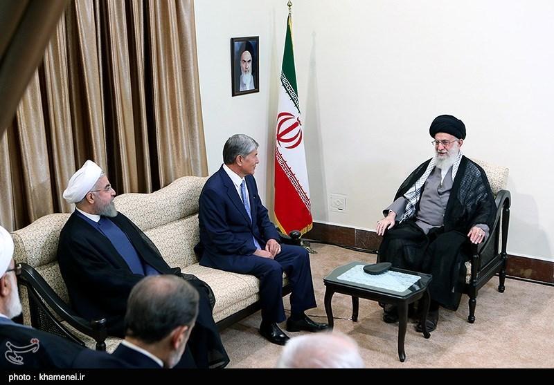 Kyrgyz President Atambayev Meets Ayatollah Khamenei in Tehran