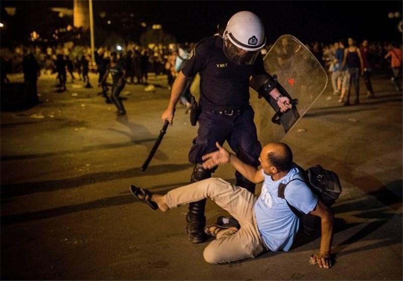 درگیری پلیس و مهاجران در یونان