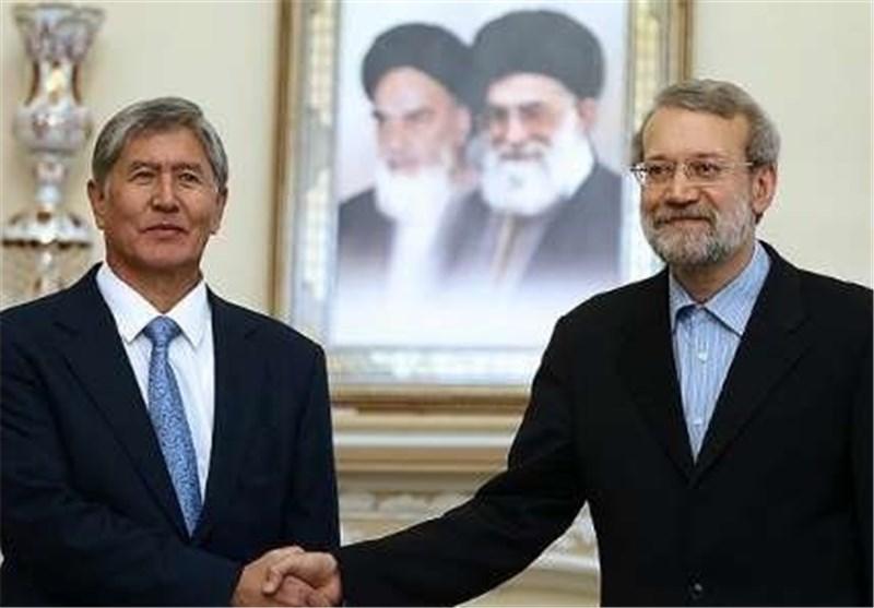 لاریجانی : الجمهوریة الاسلامیة الایرانیة مستعدة لرفع مستوی علاقاتها مع جمهوریة قرغیزیا